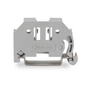 Schraubenlose Endklammer 6 mm breit grau