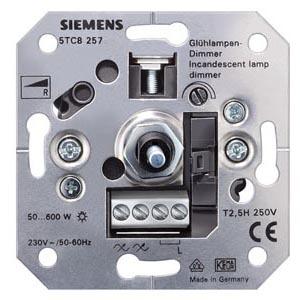 Glühlampendimmer, R mit Druck-aus/Wechselschalter UP, 230V 50-60Hz, 60-600W Schraubklemmen für Krallen- und Schraubbefestigung