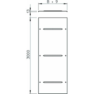 WDRL 1116 50 DD, Deckel mit Drehriegel Weitspann-System 110 und 160 500x3000, St, DD