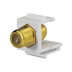 KMK-BNC-F sw, BNC-F-Keystone, Schraubanschluss (Buchse/Buchse), für Montageadapter KMK-MA Up und andere Keystone-Aufnahmen, schwarz (ähnlich RAL 9005)