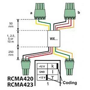 WXS-100, Anschlussleitung für RCMS4…