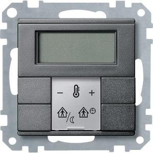 Raumtemperaturregler mit Display, anthrazit, System M