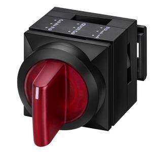 3SB3111-2EA41, Knebelschalter, 26x26mm, beleuchtet, quadratisch, Kunststoff, grün