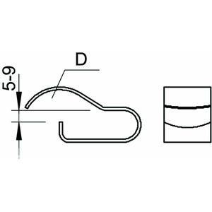 BCCF 8-9 D20, Trägerklammer für Kabel, 7-20mm 8-9mm, St, ZL