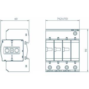 V25-B+C 3+NPE, CombiController V25 3+1 Ausführung 280V