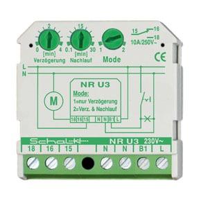 NR U3, Nachlaufrelais m. Einschaltverzögerung 230V AC (UP)