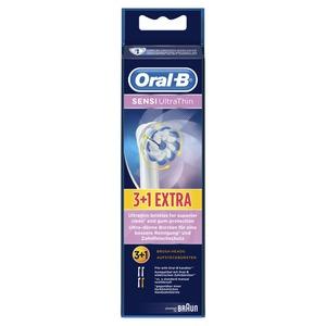 Aufsteckbürsten SENSI UltraThin 3+1, Oral-B Aufsteckbürsten SENSI UltraThin 3er+1, weiss