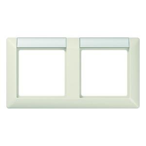AS 5820 NA, Rahmen, 2fach, Schriftfelder 13 x 55,5 mm (BB 20.1), für waagerechte Kombination