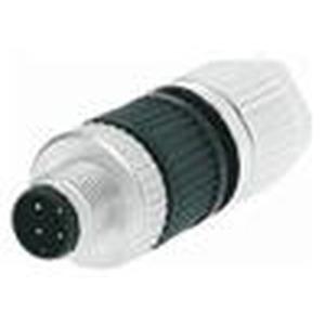 circular Connector w. Harax M12 L4 M