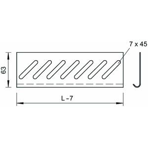 BEB 150 A2, Bodenendblech für Kabelrinne B150mm, V2A, A2