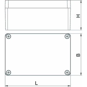 Mx 120805 SGT, Aluminiumleergehäuse 125x80x57, AlG, SGT