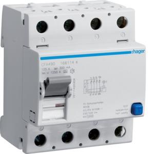 FI-Schalter 4P 10kA 125A 300mA Typ A