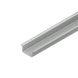 2934/2 GO, Tragschiene, Hut-Profil, 35x15x2000 mm, ungelocht, Stahl, galvanisch verzinkt DIN EN ISO 2081, dickschichtpassiviert