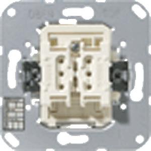 4072.02 LED, KNX Taster BA, 2fach, Mittenstellung, Funktion: Schalten (Tasten), Jalousie, Dimmen, Status