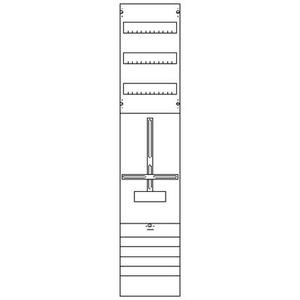1ZF429, Zählerfeld BH4 1-Feld nicht verdrahtet mit Zählerkreuz