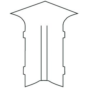 SFA50.3, Außeneck 90°, 53,4x17 mm, Kunststoff ASA, RAL 9010, reinweiß