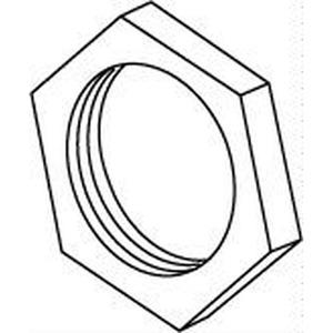 347, Sechskantmutter, Höhe 2,5 mm, Gewinde M10x1, Messing, blank
