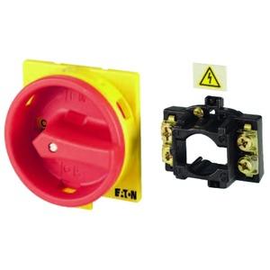 V/EA/SVB-T5, Umbausatz auf Hauptschalter, Griff rot/gelb, für T5B, T5