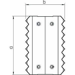 LKM SV80, Stoßstellenverbinder 80mm, V2A, 1.4310