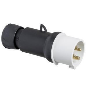 CEE Stecker, Schraubklemmen, 32A, 3p+E, 480-500 V AC, IP44