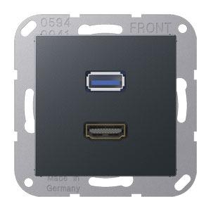 MA A 1163 ANM, HDMI und USB, Tragring, Schraubbefestigung, bruchsicher