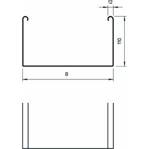 SKSU 110 FT, Kabelrinne SKSU ungelocht,mit Verbinderlochung 110x100x3000, St, FT