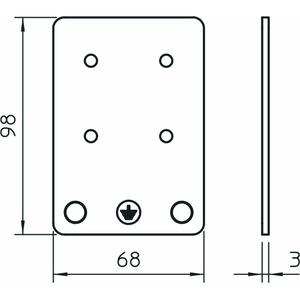 MCF-MS-P1, Montageplatte Platte 1-polig 1-polig, V2A, 1.4301