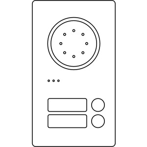 Acero Edelstahl-Türstation Audio, 2 WE, Audio, Edelstahl