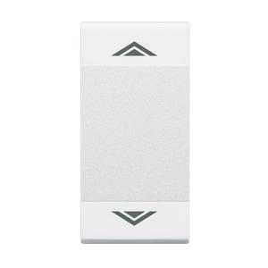 Symbolwippen für Tastsensoren mit 2 Funktionen, Druckpunkt oben und unten, AUF – AB, 1-modulig, Farbe: weiß