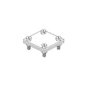 28/40, Kreuz-Verbinder 74x74x4 mm mit Klemmplatte, für Runddraht, für Beton, Stahl, feuerverzinkt DIN EN ISO 1461