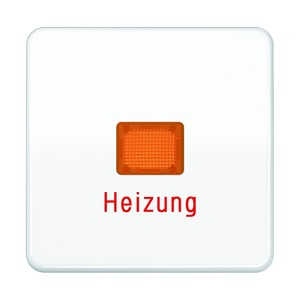 CD 590 BFH WW, Wippe, Lichtaustrittsfenster, Aufschrift Heizung, bruchsicher, für Wipp-Kontrollschalter, Tast-Kontrollschalter und beleuchtbare Taster