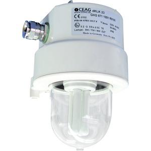GHG 871 2001 R0101, Ex-d Signal und Rettungszeichenleuchte (einzelüberwacht) für Zone 1/21dKLK 23 VCG-S /Ex d, klar, 1 x M20 Ex-d Leitungseinführung
