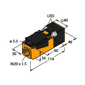 BI15-CP40-VP4X2/S100, Induktiver Sensor, mit erweitertem Temperaturbereich, Standard
