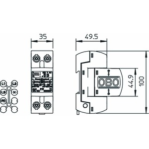 MCD 50-B-OS, CoordinatedLightningController mit Funktionsanzeige 255V