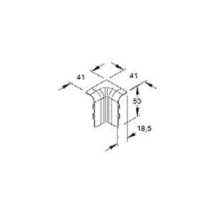 SFI50.6, Inneneck 90°, 53x18,5 mm, Kunststoff ASA, RAL 9001, cremeweiß
