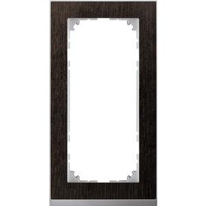 M-Pure Decor-Rahmen, 2fach ohne Mittelsteg, Wenge/aluminium, M-Pure Decor