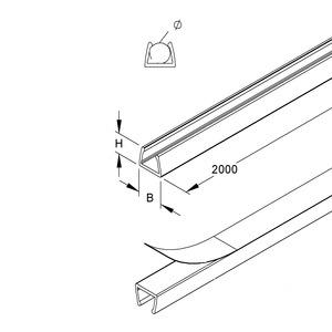 LC57, LC-Minikanal, für 1 Leitung, 7,5x9,5x2000 mm, Kunststoff PVC-hart, Farbe transparent