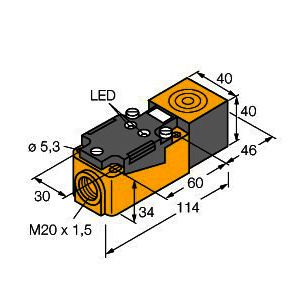 NI35-CP40-AP6X2, Induktiver Sensor