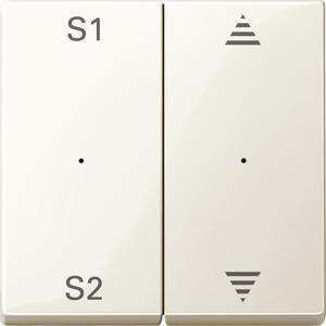 Wippen für Taster-Modul 2fach (Szene1/2, Auf/Ab), weiß glänzend, System M