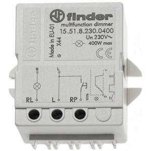 15.51.8.230.0400, Dimmer für Chassis- oder Dosenmontage, dimmt schrittweise, Memoryfunktion, max. 400 W, für 230 V AC