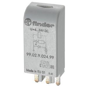 99.02.0.060.98, Modul, Varistor und grüne LED, 28 bis 60 V AC/DC