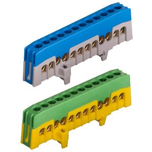 HKPE12F, Schutzleiterklemme PE12-F fingersicher, HKPE12F, grün/gelb