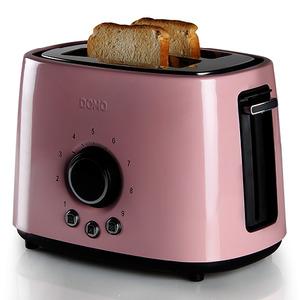 Toaster Edelstahl Pastell rose