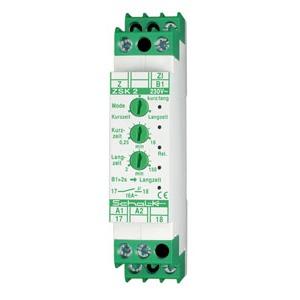 ZSK 2, Lichtzeit-Impulsschalter ZSK 2 mit 3 Modi, 1 Schliesser, 16A, galv. getr. ZI