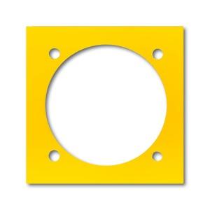 0239-0-0079, Abdeckplatte, gelb, Alu-Druckguss/Sondergeräte, EnergieversorgungseinheitEVE