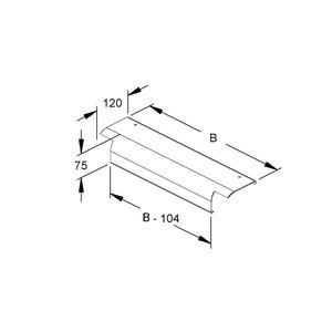 WLAB 300 F, Endabgangsblech, Breite 290 mm, Stahl, feuerverzinkt DIN EN ISO 1461, mit vormontiertem Zubehör