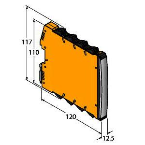 IMX12-FI01-1SF-1I1R-C0/24VDC, Frequenzmessumformer / Puls-Counter, 1-kanalig, TÜV 16 ATEX 192124 X
