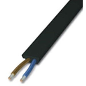 Kabel VIA POWER NET 2-polig flach-kodiert schwarz pro Meter