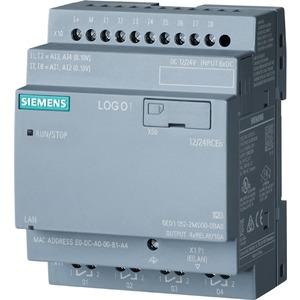 6ED1052-2MD08-0BA0, LOGO! 12/24RCEO, Logikmodul, SV/E/A: 12/DC 24V/Relais, 8 DE (4AE)/4 DA, ohne Display, Speicher 400 Blöcke, modular erweiterbar, Ethernet, integr. Web-