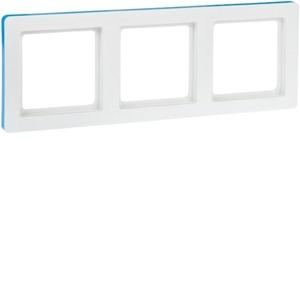 Rahmen 3fach Q.1 pw samt farb-konfigur